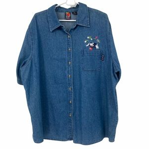 Mickey Unlimited Jerry Leigh Chambray SS Shirt